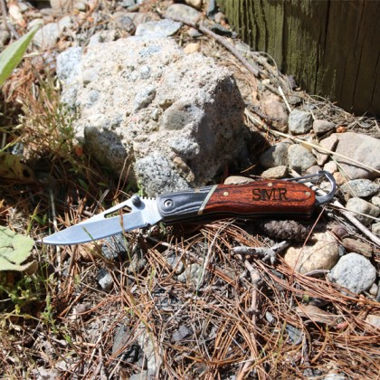 Custom Pocket Knife with Rosewood Handle