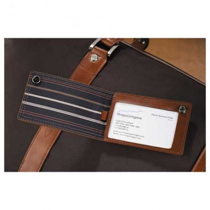 Cutter & Buck Personalized Leather Luggage Tag