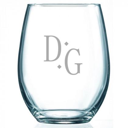 Versatile Monogram Stemless Glass
