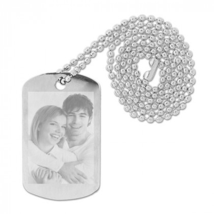 Stainless Steel Photo Engraved Dog Tag