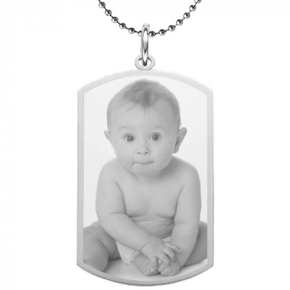 Medium Custom Photo Dog Tag