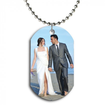 Personalized Color Dog Tag Picture Pendant