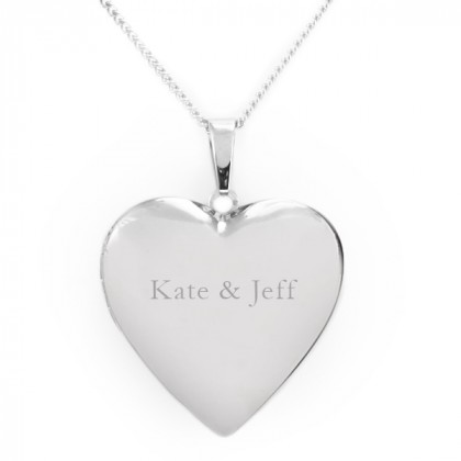 Personalized Heart Picture Locket