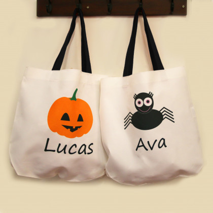 Personalized Halloween Trick or Treat Bags