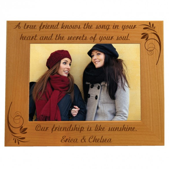 Best Friends Personalized Photo Frame - 5 x 7 | ForAllGifts