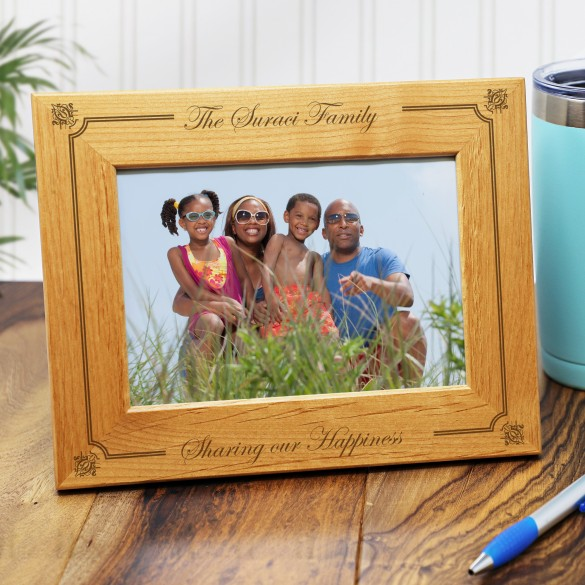 Our Family Personalized Picture Frame 5 X 7 Forallgifts