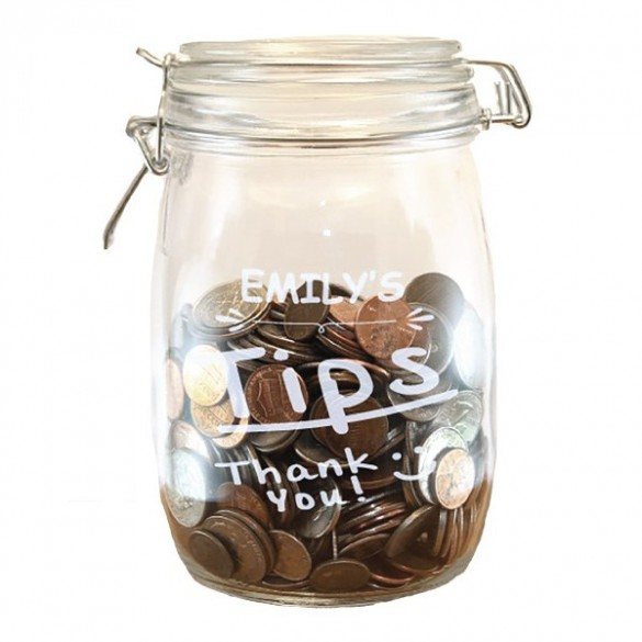 personalized tip jar