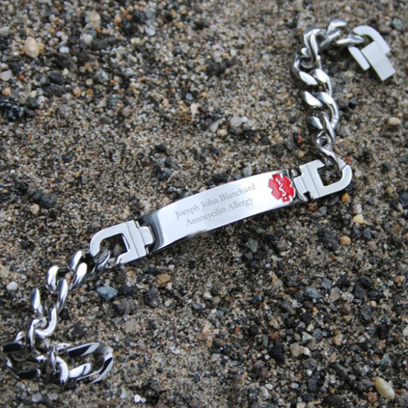 Personalized Medical Alert ID Bracelet