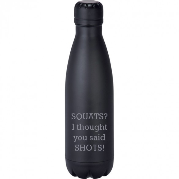 personalized black insulated bottle 17 oz forallgifts
