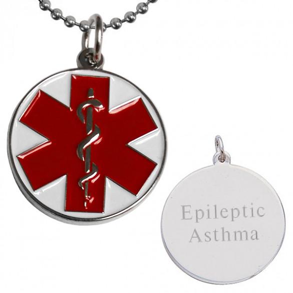 Engraved enameled medical alert pendant forallgifts engraved enameled medical alert pendant aloadofball Images