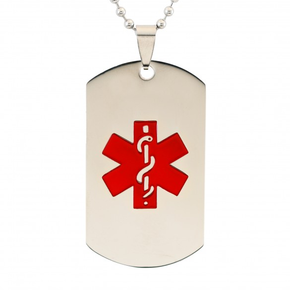Personalized Large Medical Alert Dog Tag Forallgifts