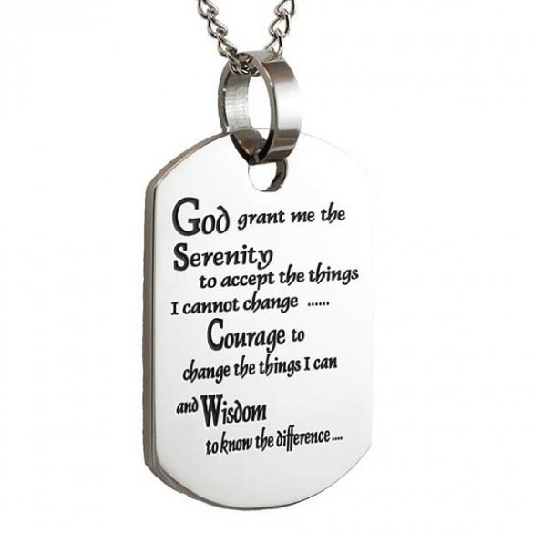 Engravable serenity prayer dog tag pendant forallgifts personalized serenity prayer dog tag aloadofball Choice Image
