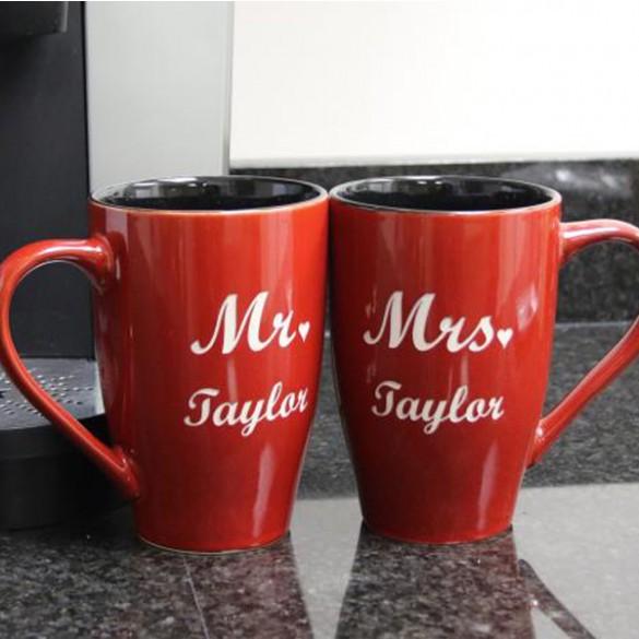 Personalized Mr. & Mrs. Coffee Mug Set