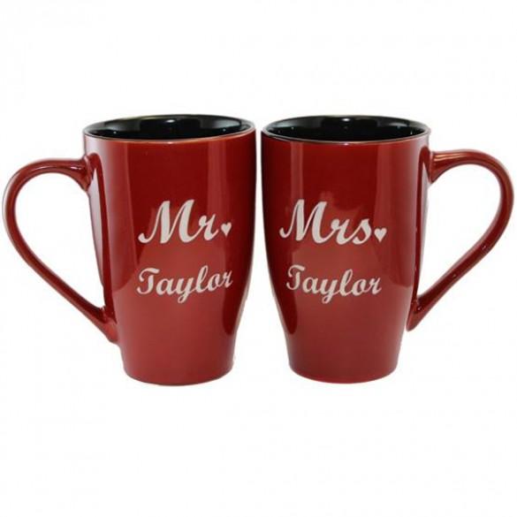 Mr. & Mrs. Personalized Coffee Mugs