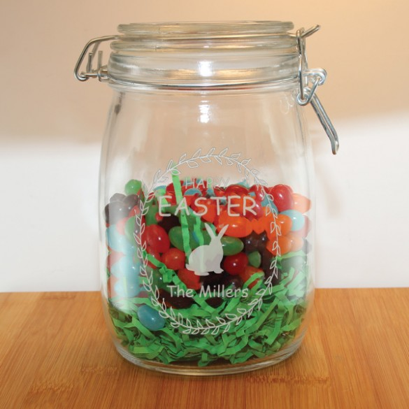 personalized family easter candy jar forallgifts
