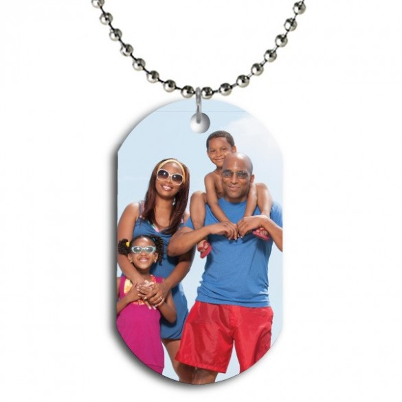 Personalized Color Dog Tag Photo Pendant