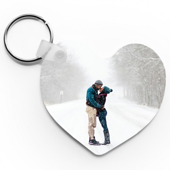personalized heart photo keychain forallgifts