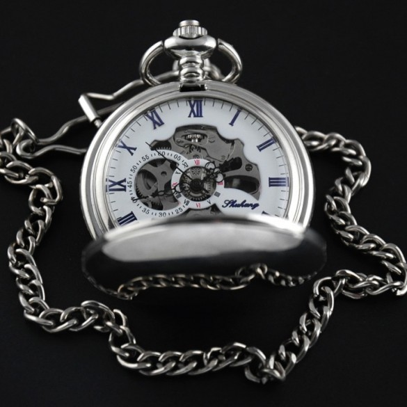 Personalized Pocket Watch in Stainless Steel