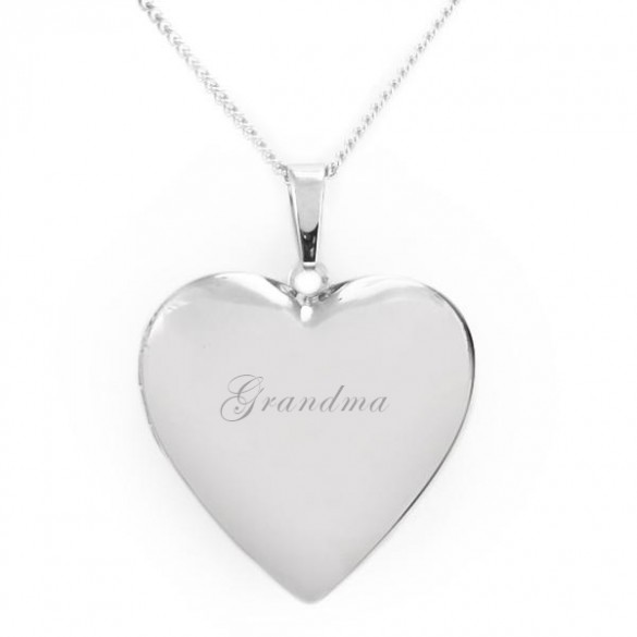Engravable Heart Locket