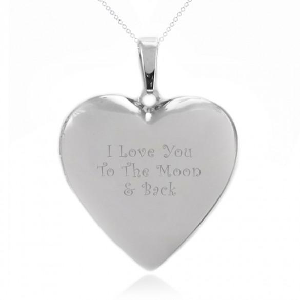 Personalized Heart Photo Locket