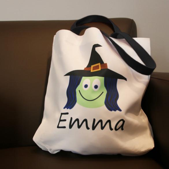 Custom Halloween Trick or Treat Tote Bags