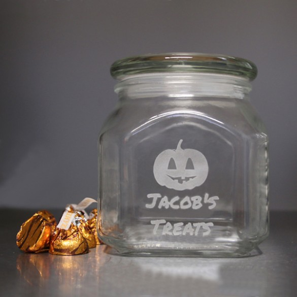 Halloween Treats Personalized Candy Jar