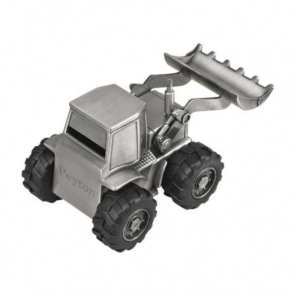 Personalized Front Loader Piggy Bank
