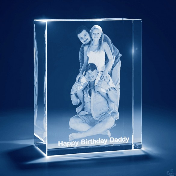 Personalized 3D Photo Crystal Tower