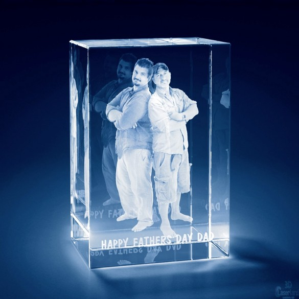 3D Photo Tower Crystal Keepsake