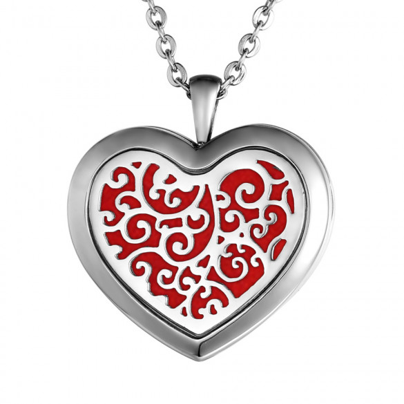 Personalized Heart of Vines Essential Oil Necklace