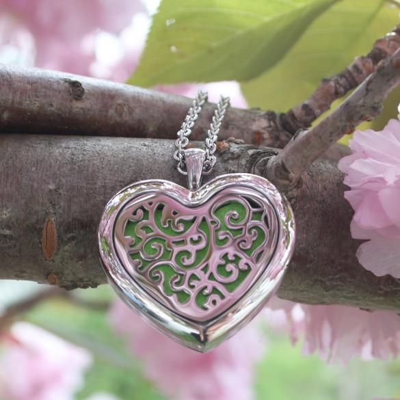 Engraved Heart Aromatherapy Locket