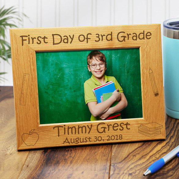 1st Day Of School Personalized Picture Frame - Horizontal 5 x 7