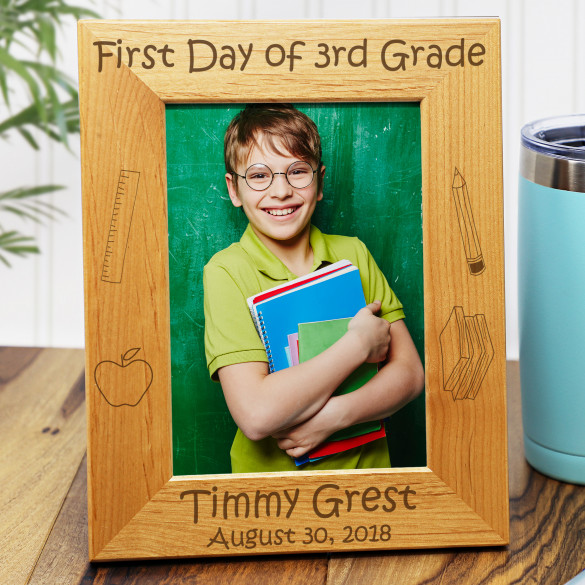 First Day Of School Personalized Photo Frame
