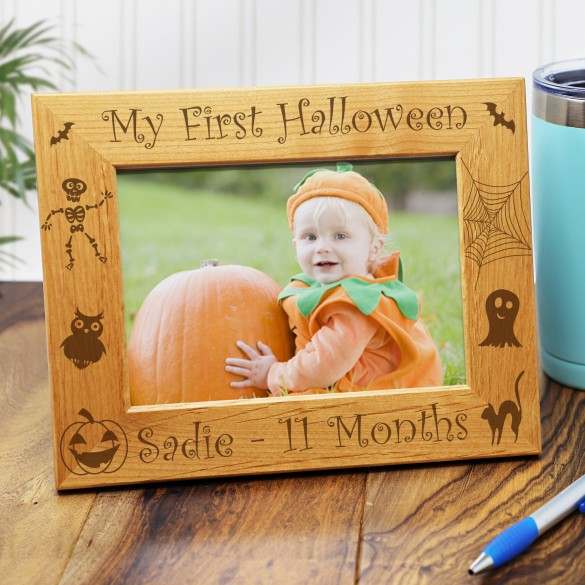 Personalized Halloween Picture Frame - 5 x 7