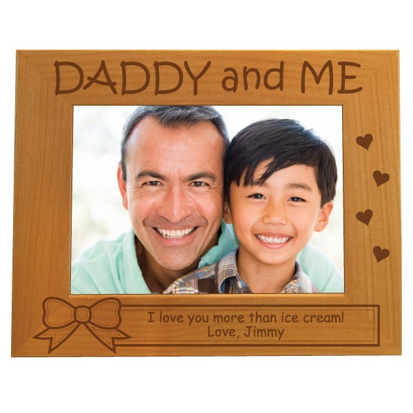 Daddy Amp Me Personalized Picture Frame 5 X 7 Forallgifts