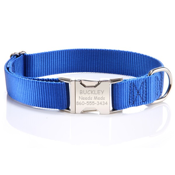 Metal Buckle Personalized Dog Collar