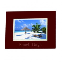 Any Message Rosewood Personalized Photo Frame - 4 x 6
