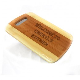 Special Greeting Personalized Bamboo Cutting Board