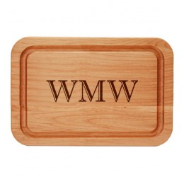 Personalized  Alder Trencher Cutting Board with Monogram