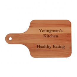 Your Own Message Engraved Alder Paddle Cutting Board