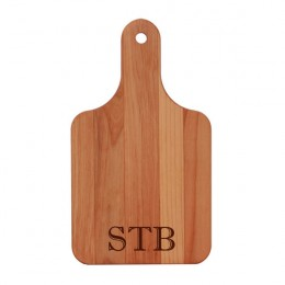 Personalized Monogram Paddle Alder Cutting Board