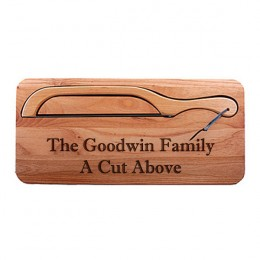 Engraved Multi-Line Personalized Bread Knife Board