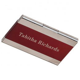 Engraved Stainless Steel Business Card Holder