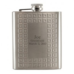Tartan Design Personalized Flask