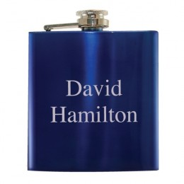 Blue Personalized Flask-Great Wedding & Groom Gift