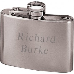 Personalized 4 oz  Pocket Flask with Engraving