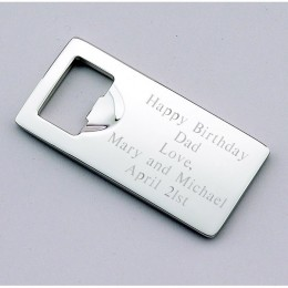 Personalized Flat Nickel Bottle Opener