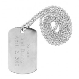 Armanno Steel Dog Tag with Personalization