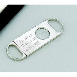 Personalized Nickel Plated Cigar Cutter