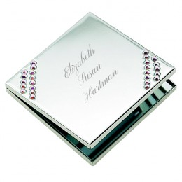 Engraved Message No-Tarnish Compact-Mother's Day Gifts